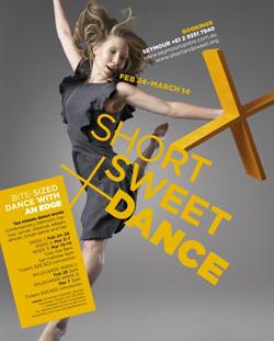SHORT SWEET + DANCE - CHOREOGRAPHERS ANNOUNCED
