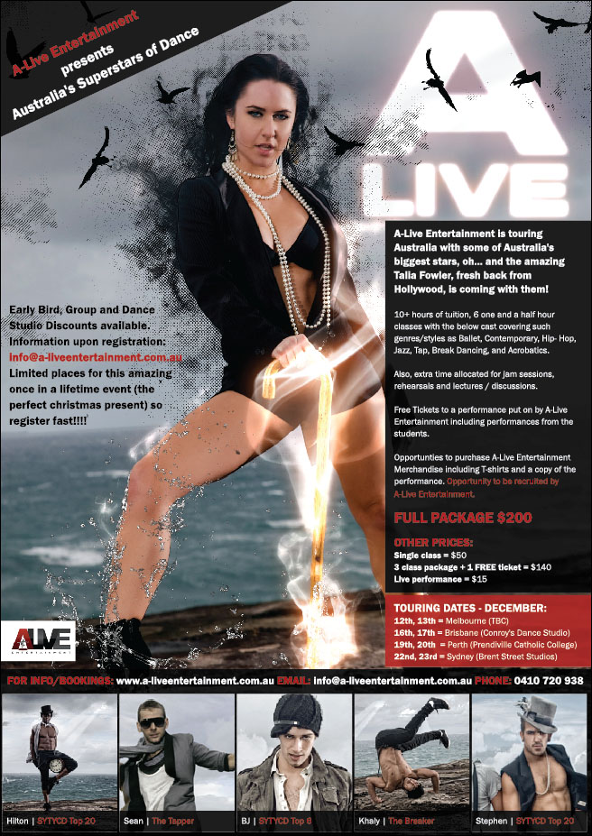 A-LIVE ENTERTAINMENT PRESENTS AUSTRALIA'S SUPERSTARS OF DANCE
