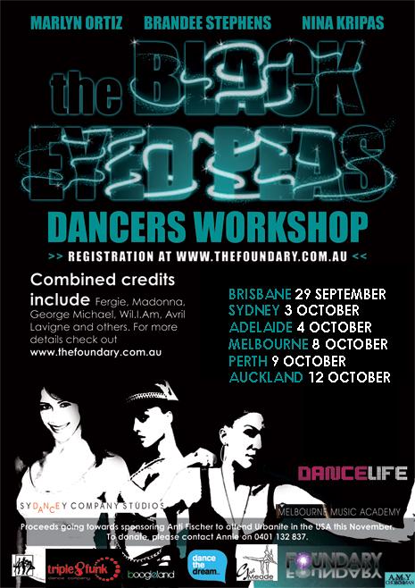 THE BLACK EYED PEAS INTERNATIONAL DANCE WORKSHOPS