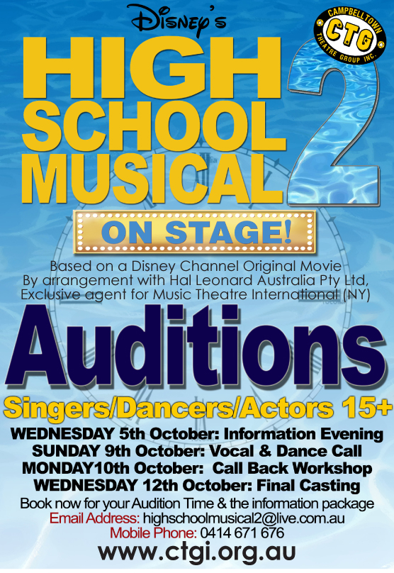 HSM 2 Audition Poster