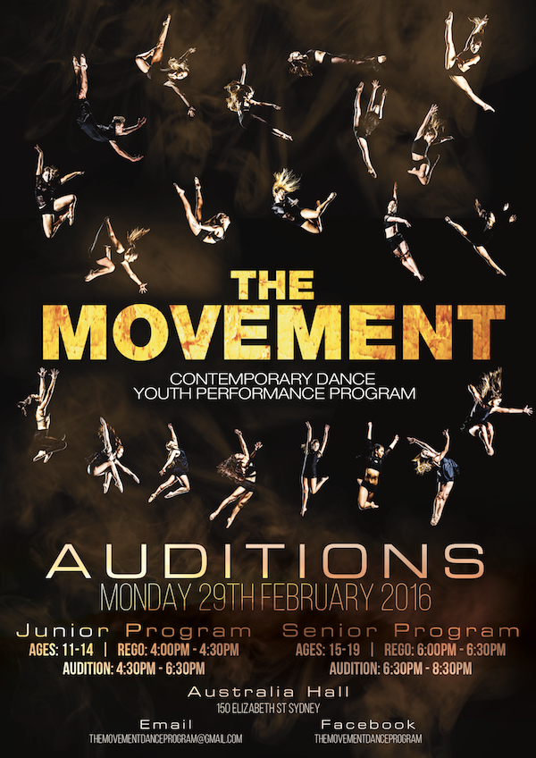 The Movement Audition Poster 2016