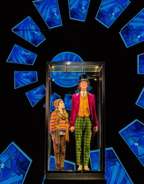 Ryan Yeates as Charlie and Paul Slade Smith as Willy Wonka.