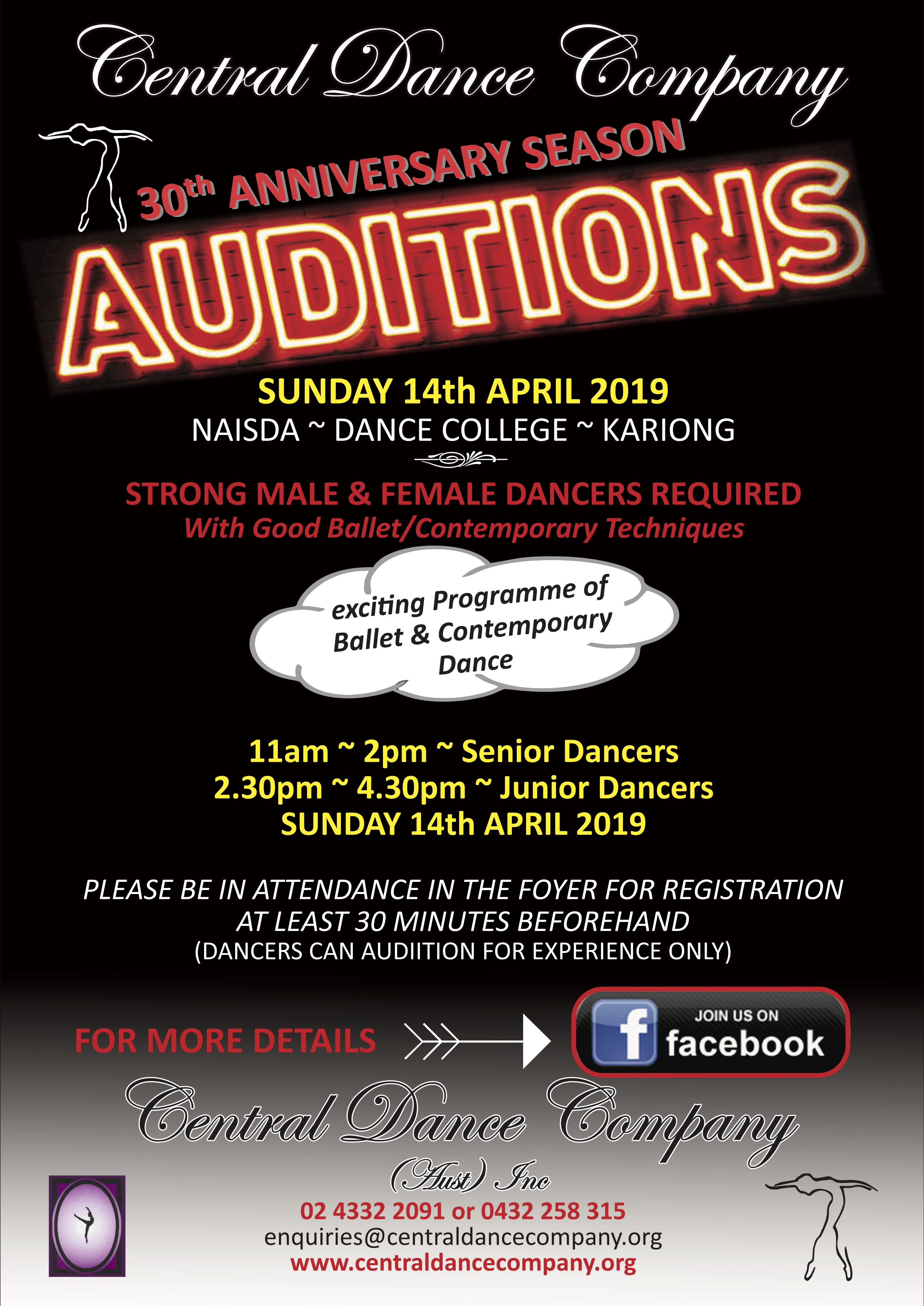 Auditions for Central Dance Company | Dance Life