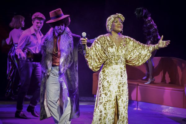 Marcia Hines, Tim Omaji and the cast of Saturday Night Fever. Photo Heidi Victoria